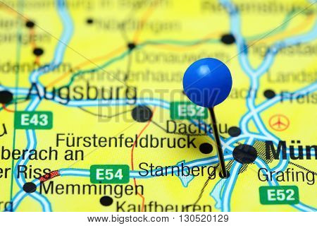Starnberg pinned on a map of Germany
