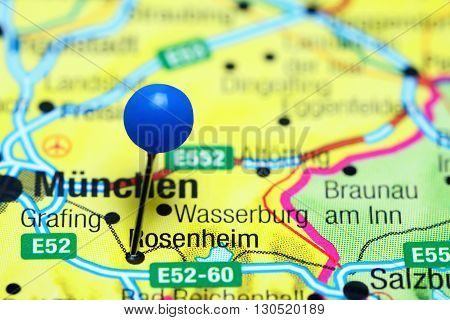 Rosenheim pinned on a map of Germany