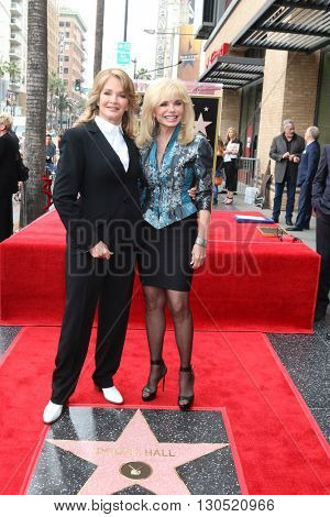 LOS ANGELES - MAY 19:  Deidre Hall, Loni Anderson at the Deidre Hall Hollywood Walk of Fame Ceremony at Hollywood Blvd. on May 19, 2016 in Los Angeles, CA