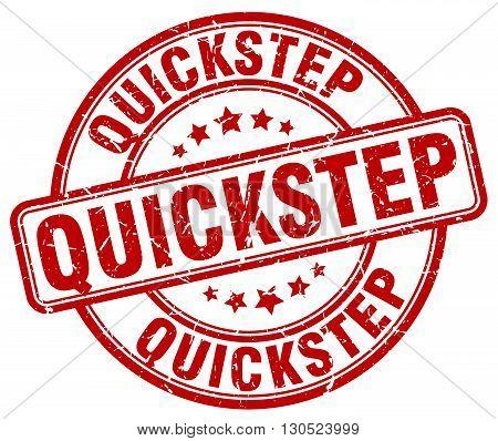 quickstep red grunge round vintage rubber stamp