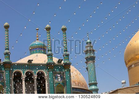 Mosque in Qom, the sacred city, Iran