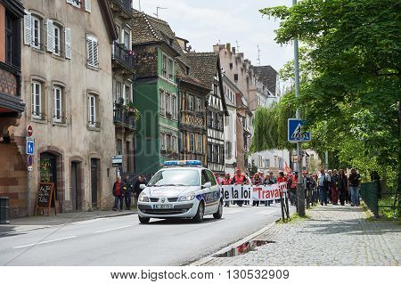 Closed Street In France Due To Protest