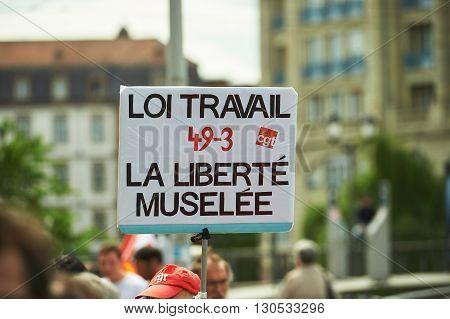 Anti Labor Placard