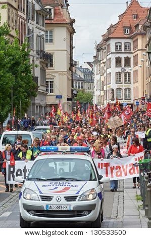 March In Strasbourg Against Labour Law
