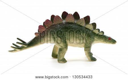 Stegosaurus dinosaur toy on white background. stegosaurus, toy, dinosaur,
