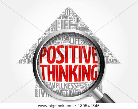 Positive Thinking Arrow Word Cloud