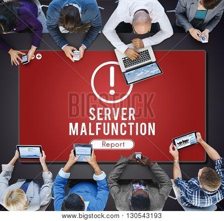 Server Malfunction Network Problem Technology Software Concept