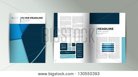 Booklet page layout. Minimalistic magazine, brochure, flyer, annual report template.