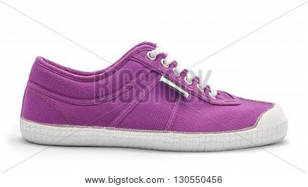 violet casual flat shoe isolated on white