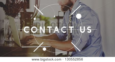 Contact Us Customer Service Inquiry Support Assistance Concept