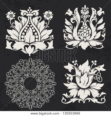 Floral and geometry design elements