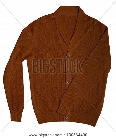 casual men's cardigan isolated on a white background