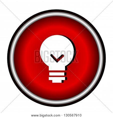 Bulb icon on white background, web design illustration