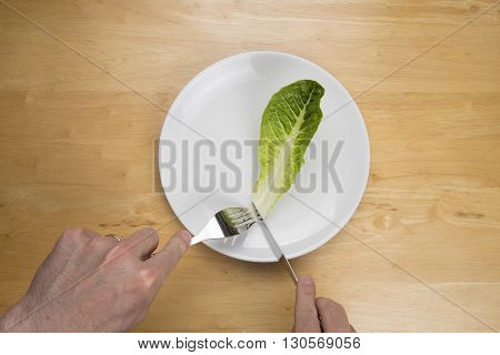 Ariel view of male eating disorder concept