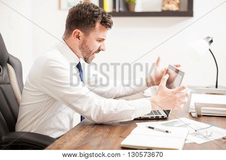 Man Having Problems With His Computer