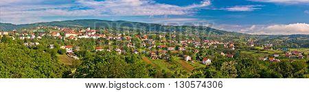 Town of Sveti Ivan Zelina panorama Prigorje Croatia