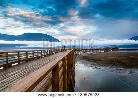 Salmon Arm Wharf In British Columbia, Canada