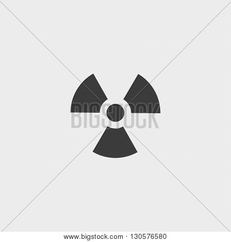 Radiation icon in a flat design in black color. Vector illustration eps10 poster