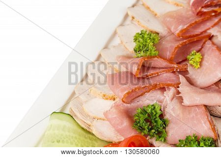 Different Meat Appetizer And Snacks
