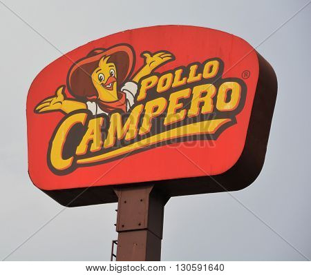 GUATEMALA CITY GUATEMALA 04 28 2016: Pollo Campero is fast food restaurant chain that focuses on Latin American chicken recipes. The chain was founded in 1971 in Guatemala by Juan Bautistia Gutierrez.