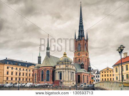 Riddarholm Church (Riddarholm Kyrka) In Stockholm, Sweden