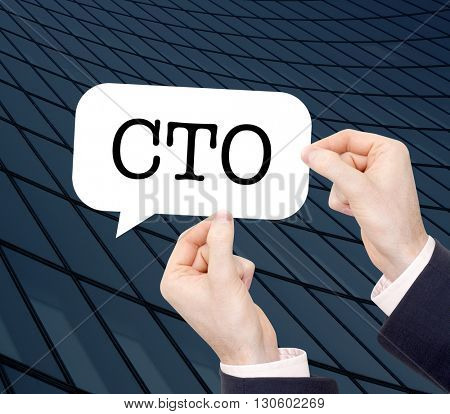 CTO written in a speechbubble