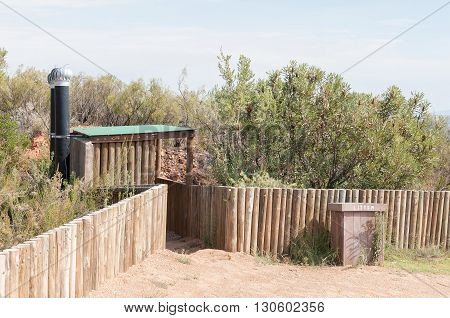 Public ablution facilities at the top of the Holgat Pass in the Baviaanskloof (baboon valley)