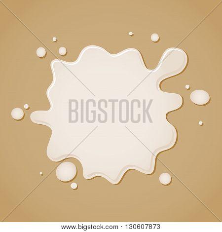 Vector stock of milk splash splatter on top of brown background