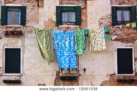 Towel Hang Outside The Window