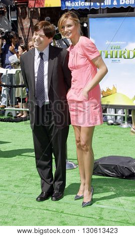 Mike Myers and Cameron Diaz at the Los Angeles premiere of 'Shrek 3' held at the Mann Village Theater in Westwood, USA on May 6, 2007.