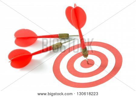 Red Dart On Target