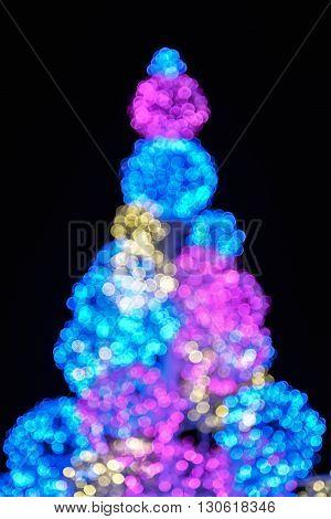 Blur of light of colorful LED lighting