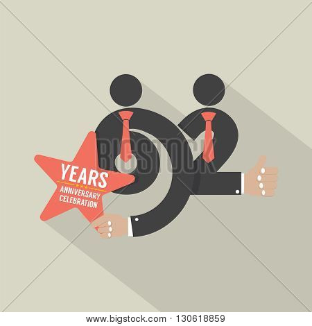 62nd Years Anniversary Typography Design Vector Illustration. EPS 10