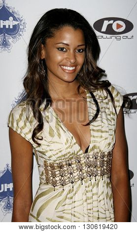 Claudia Jordan at the 2nd Annual Celebrity Poker Tournament to Benefit The Urban Health Institute held at the Playboy Mansion in Holmby Hills, USA on April 28, 2007.