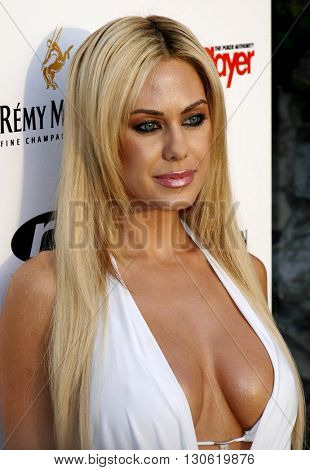 Shauna Sand Lamas at the 2nd Annual Celebrity Poker Tournament to Benefit The Urban Health Institute held at the Playboy Mansion in Holmby Hills, USA on April 28, 2007.