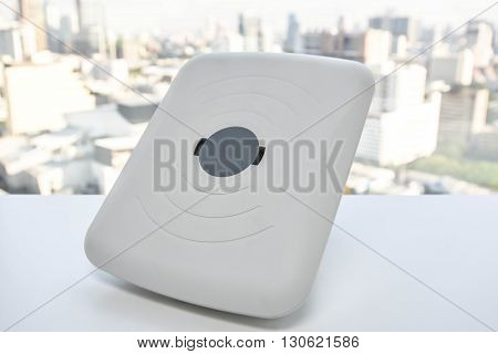 Wireless access point device on the white able
