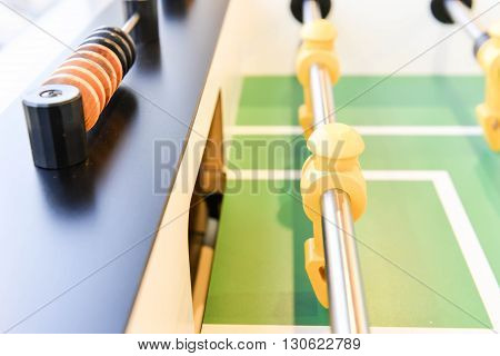 Player of table football - Close up