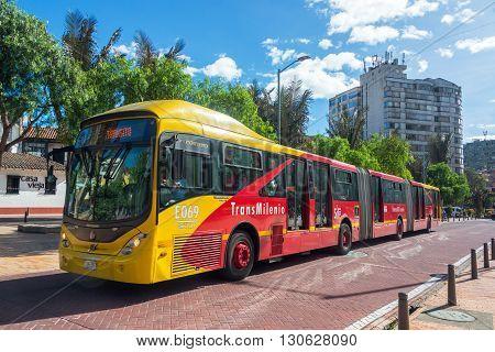 Transmilenio Bus In Bogota