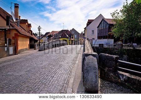 Streets of old Samobor town Prigorje Croatia