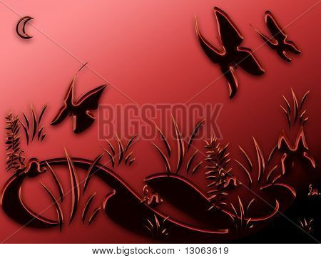 Butterfly In Night