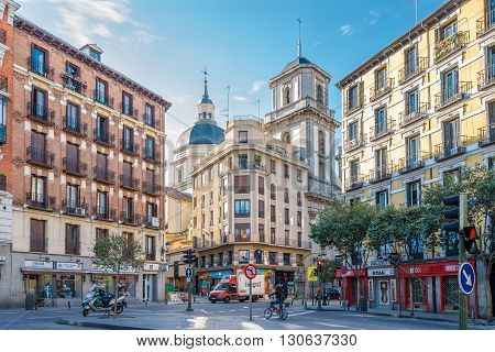 MADRID,SPAIN - APRIL 25,2016 - In the streets of Madrid . Madrid is the capital of Spain.