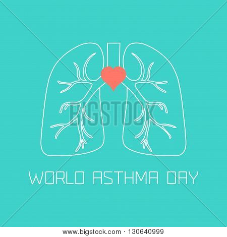 World Asthma Day poster. Asthma awareness sign made in linear style. Asthma solidarity day symbol. Medical concept. Vector illustration.