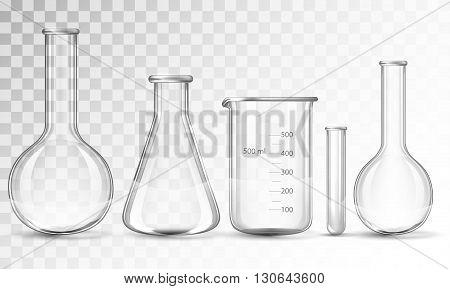 Test-tubes isolated on a white background .  vector illustration.