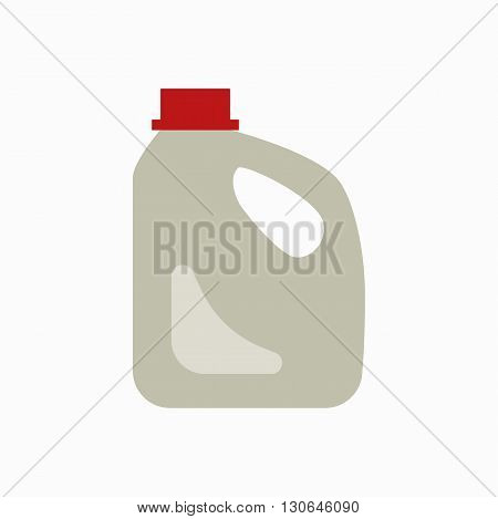 Plastic canister waste flat concept.  Vector illustration of sorting plastic canister  waste. Icon of plastic  canister waste for garbage disposal design.  Plastic canister waste sorting management .