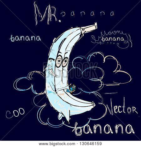 Mr Banana like moon in the sky