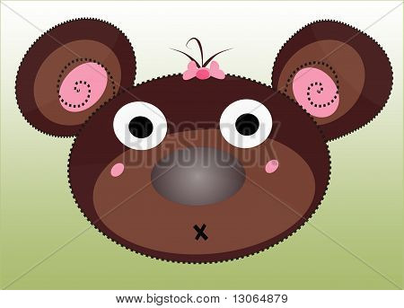 Girly Brown Bear