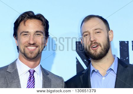 LOS ANGELES - MAY 20:  James Weaver, Evan Goldberg at the Neighbors 2: Sorority Rising American Premiere at Village Theater on May 20, 2016 in Westwood, CA