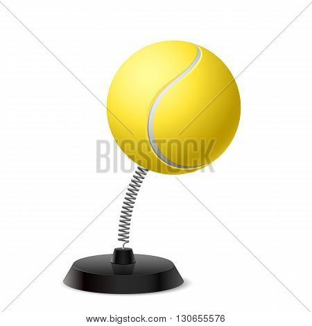 Table souvenir in form of ball for tennis on spring