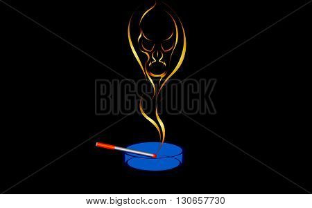 Vector illustration of a Smoking is harmful to health