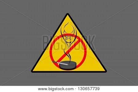 Vector illustration of no Smoking, forbidden, impossible
